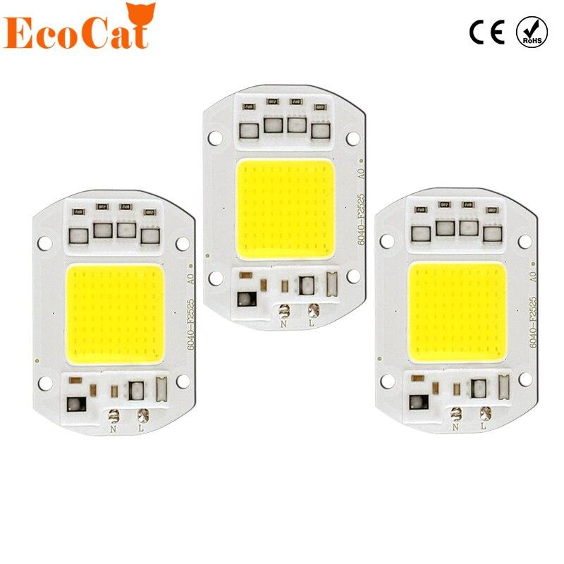 [Эко Cat] COB лампы Чип 5 Вт 20 Вт 30 Вт 50 Вт 220 В Вход smart IC драйвера, пригодный для DIY светодиодный прожектор Spotlight Холодный белый Теплый белый