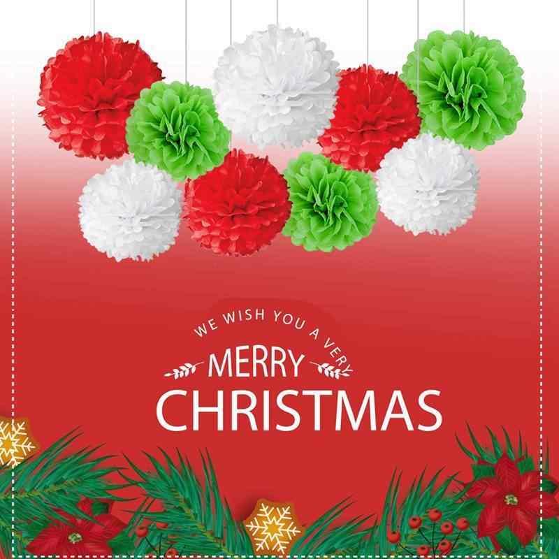 4-6-8-10-12-14-дюймовый цветной бумажный цветок Шары помпоны для свадьбы День рождения украшение для вечеринки; Рождество Хэллоуин бумажные помпоны