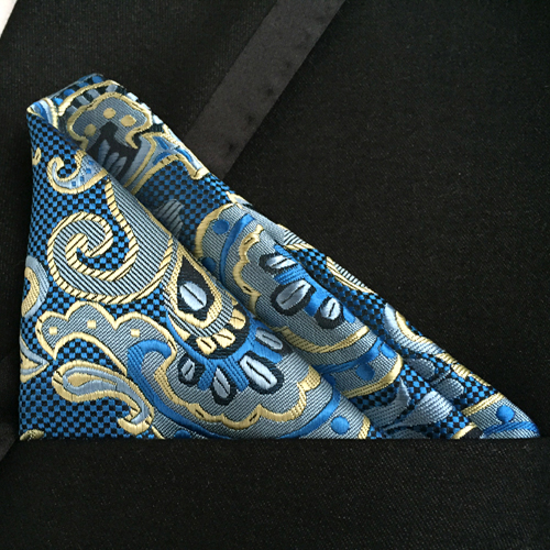 Wedding Pocket Square Classic Paisley Handkerchief To Match Uniform Tie