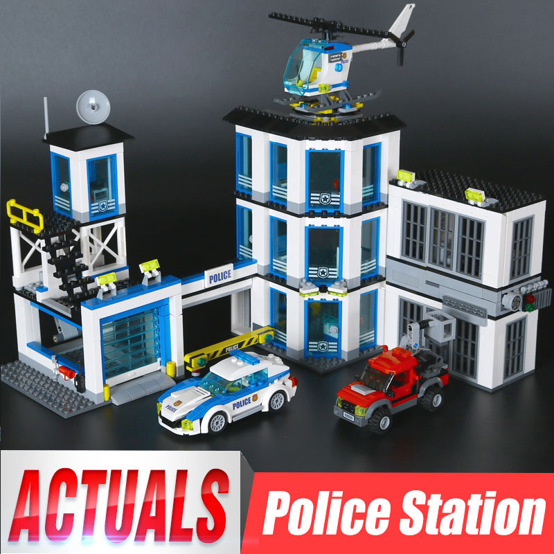 Lepin 02020 965Pcs City Series The New Police Station Set children Educational Building Blocks Bricks Boy Toys Model Gift 60141 lepin 02012 city deepwater exploration vessel 60095 building blocks policeman toys children compatible with lego gift kid sets