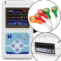 ECG Holter monitor System Holter Recorder Analyzer Free PC Software 3 Channel