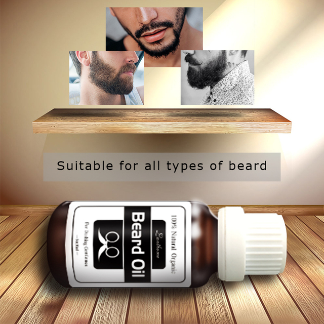 2017  Original Beard growth oil mustache grow stimulator 100% natural accelerate beard growth oil facial hair grower 2