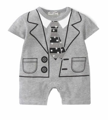 Ties Baby Rompers Shortalls 100% Cotton Tuxedo Bebe one piece Clothes baby boy clothes infantil costume baby rompers o neck 100