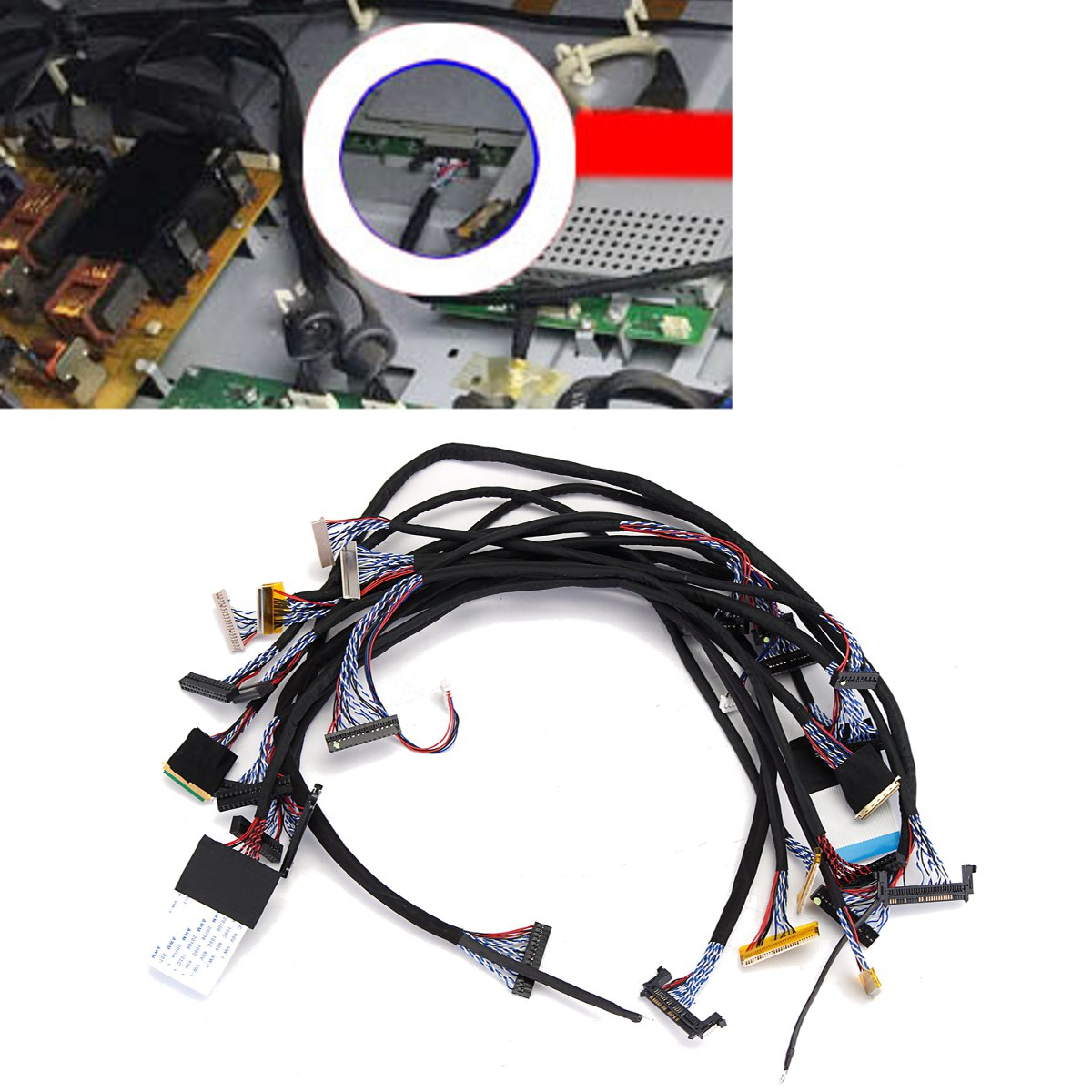 14Pcs Universal FPC/LVDS Display Cable Support For 10-65 Inch Screen LCD Controller Board