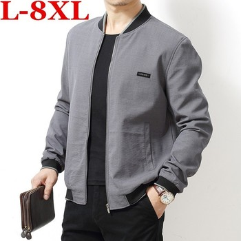 high  quality  plus  size  8XL 7XL 6XL 2018 Men's New Casual Jacket Stand Collar Men Coat Comfortable Men Coat