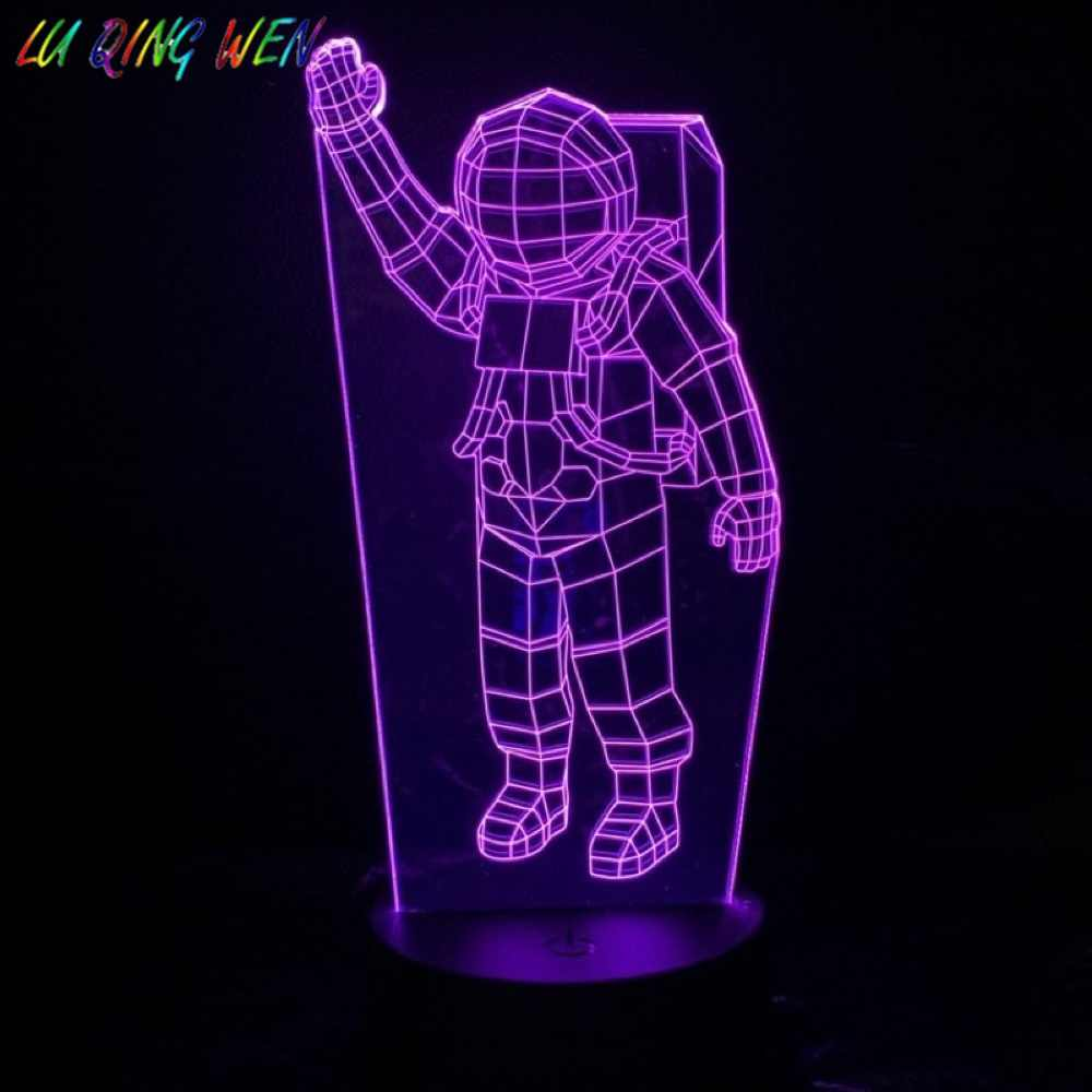 Astronaut Toys 3D Astronaut Lamp,16 Colours Changing Acrylic LED Night Light for Boys and Girls as on Birthdays or Holidays Spaceman 3D Night Light