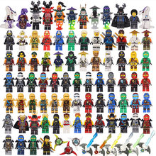2017 HOT NINJA Heroes Kai Jay Cole Zane Nya Lloyd With Weapons Action Toy Figure Blocks