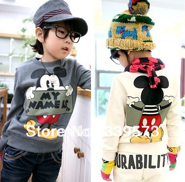 Free shipping Spring and autumn children boy cartoon sweatshirts kids casual long sleeved t shirt cotton clothes 5pcs/lot