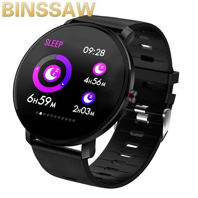 BINSSAW 2019  K9 Smart watch IP68 waterproof IPS Color Screen Heart rate monitor Fitness tracker Sports smartwatch PK CF58 K1