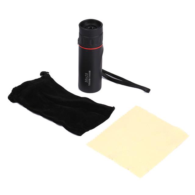 10X Magnifier Waterproof Night Vision Telescope Black Free ShippingMini 30×25 HD Optical Monocular Focus Telescope Zoomable