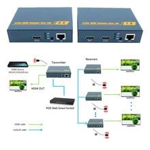 ZY-DT209 200 м HDMI по ip-сети удлинитель с ИК 1080 P HDMI через RJ45 CAT5 CAT5e CAT6 LAN разгибателей 656ft как HDMI Splitter