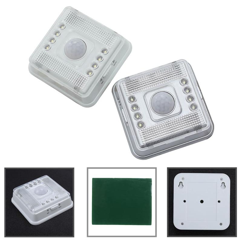 Wireless Infrared 8 LED Lamp Light Auto PIR Sensor Detector Motion Home Outdoor safurance 6 led bulbs pir sensor motion detector light lamp black motion sensor home security safety