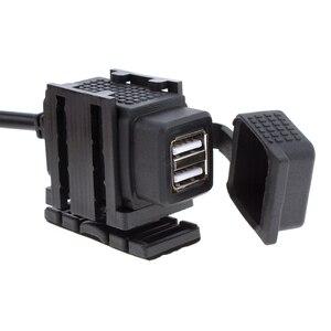 Image 2 - Ladegerät Dual USB Port 12V Wasserdicht Motorrad Motorrad Lenker Ladegerät Adapter Netzteil Buchse für Telefon GPS MP4