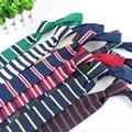 Мужчины полосой 6 см крючком тканые галстук тонкий тощий вязаный плоским галстук TSBWT0040