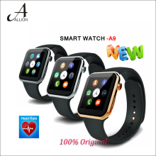 New Smartwatch A9 Bluetooth Smart uhr mit Herzfrequenz für iPhone & Samsung Android Phone smartphone uhr reloj inteligente