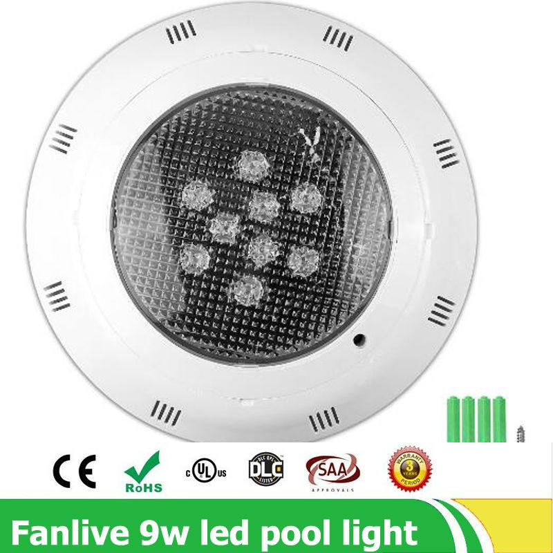 4pcs/lot 9*1W led swimming pool light IP68 12V RGB 9leds Outdoor Lighting Floodlight led Underwater Lighting