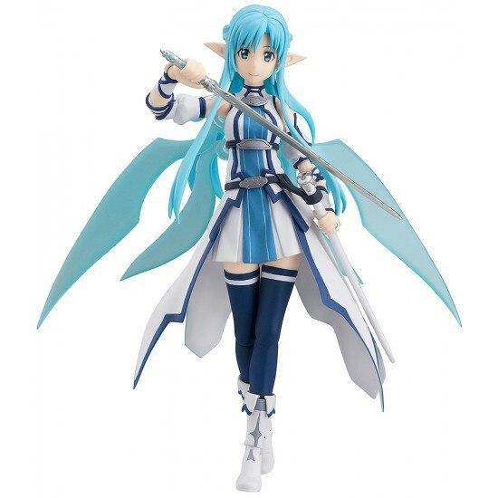 Anime Figma Sword Art Online 264 Yuuki Asuna Sao ALO PVC Action Figure Collection Model Toys Doll 15cm DJAF002