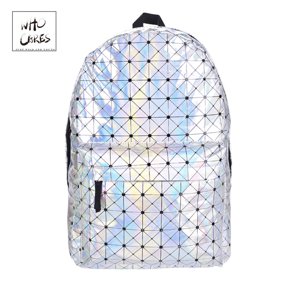 Leather quality laptop backpack women Hologram Backpack For School Student Womens Laser Silver Color Holographic Bag backpacksLeather quality laptop backpack women Hologram Backpack For School Student Womens Laser Silver Color Holographic Bag backpacks