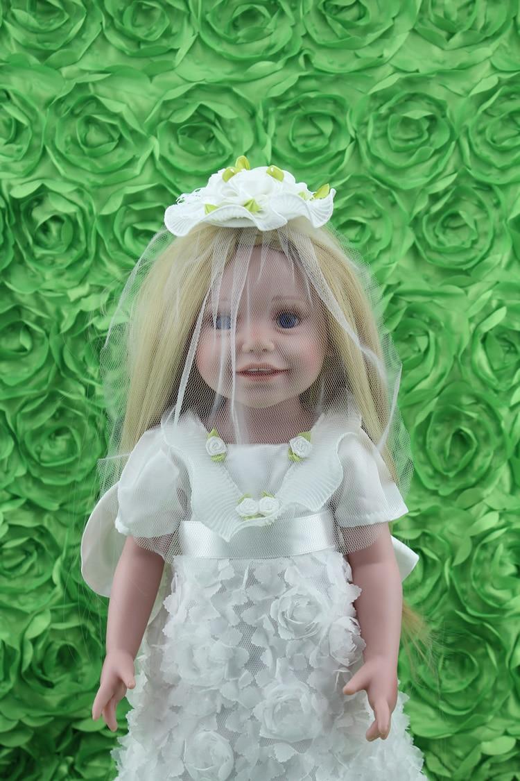 ФОТО Lovely  AMERICAN PRINCESS 18 inch girl dolls for sale white wedding dress blond long hair best girls toys lover gift bonecas