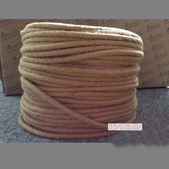 5M / šarže 2 * 0,75 Vintage lano textilní drát kroucený kabel pletený elektrický drát Retro přívěsek světla lampa linka Vintage lampa kabel