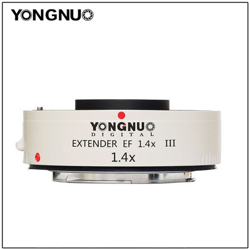 Yongnuo YN1.4XIII prolongateur de YN-1.4XIII EF 1.4X objectif de mise au point automatique téléconvertisseur pour Canon autofocus complet 1D X 1Ds 1D 70D 7D 80D 7DI