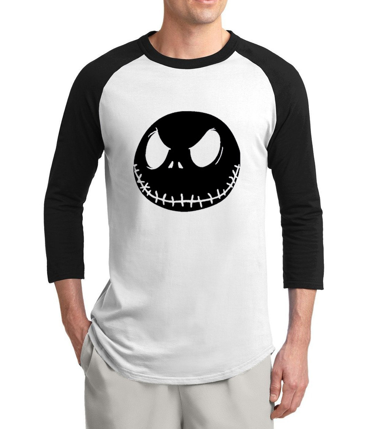 2017 summer men t shirt Nightmare Before Christmas Jack Skellington ...