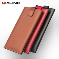 QIALINO For Huawei Honor 8 Pro Pouches Bags Wallet Genuine Leather Mobile Phone Cover Case For
