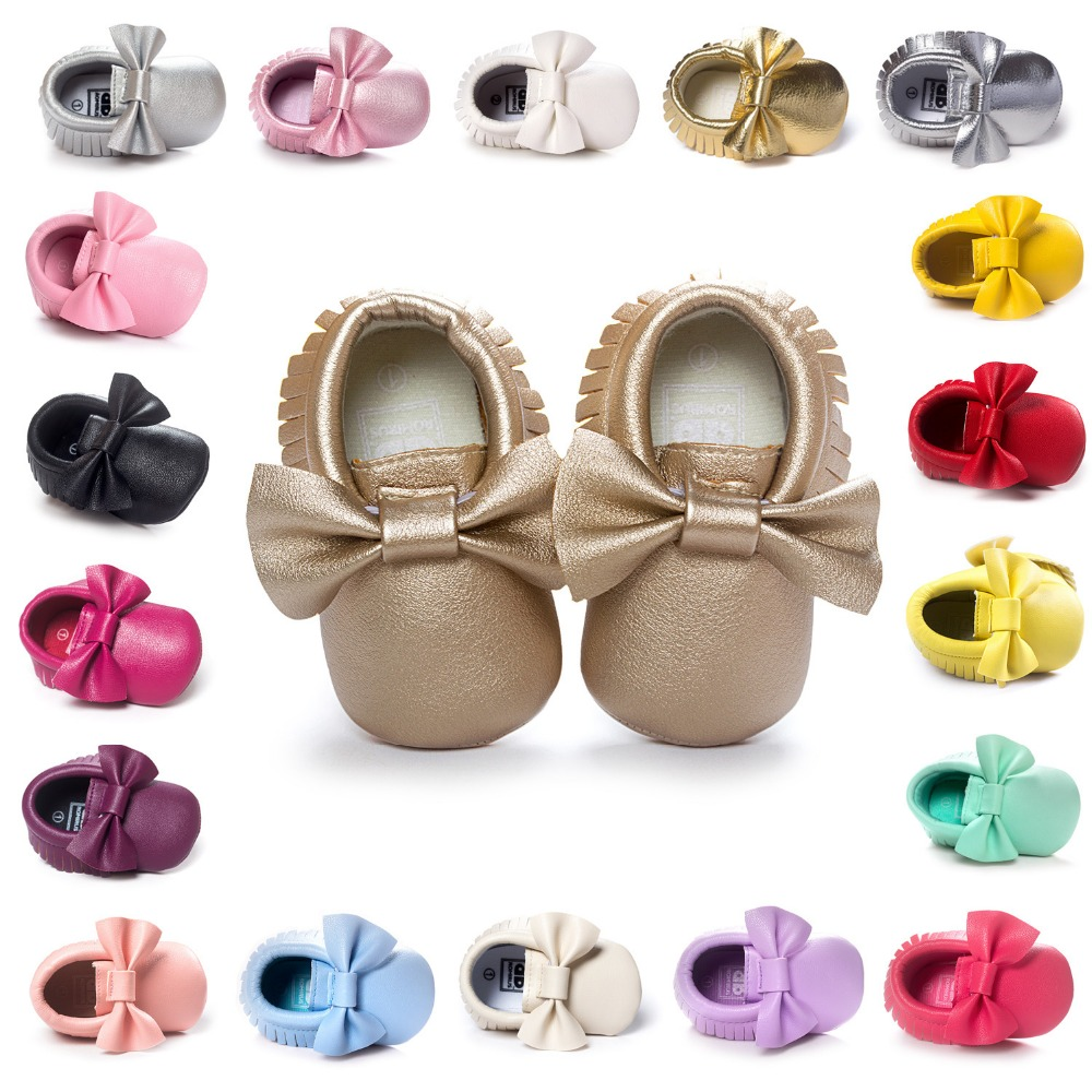 Baby Girl Moccasins Moccs Shoes First Walkers Bebe Fringe Soft Soled Non-slip Footwear Bedding Bedding PU Suede Leather Newborn.CX41A