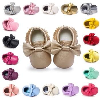 Baby Meisje Mocassins Moccs Schoenen Babyschoenen Bebe Fringe Zachte Zolen Antislip Footwear Crib Schoenen Pu Suède pasgeboren. CX41A
