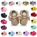 Zapatos de bebé romirus marca cuero de la pu caliente chica chico primeros caminante zapatos inferiores suaves antideslizantes moda mariposa bebe zapatos bx289