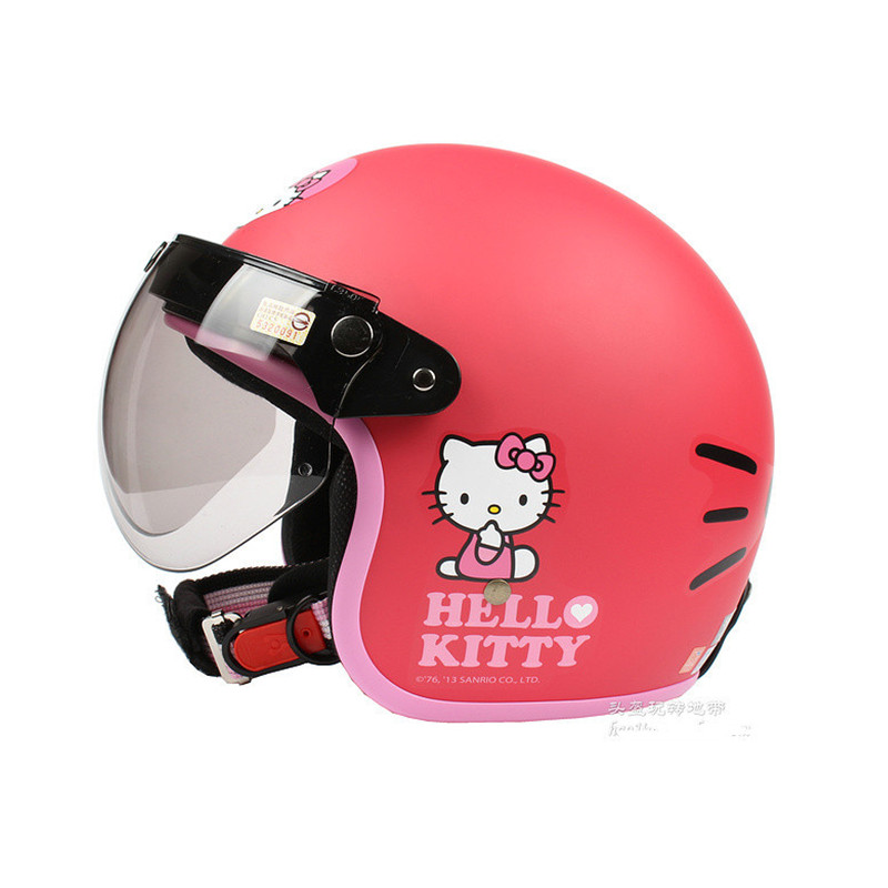 Fashion motorcycle half helmet Womens Scooter Open face helmet Vintage E-bike helmet Hello kitty helmet все цены