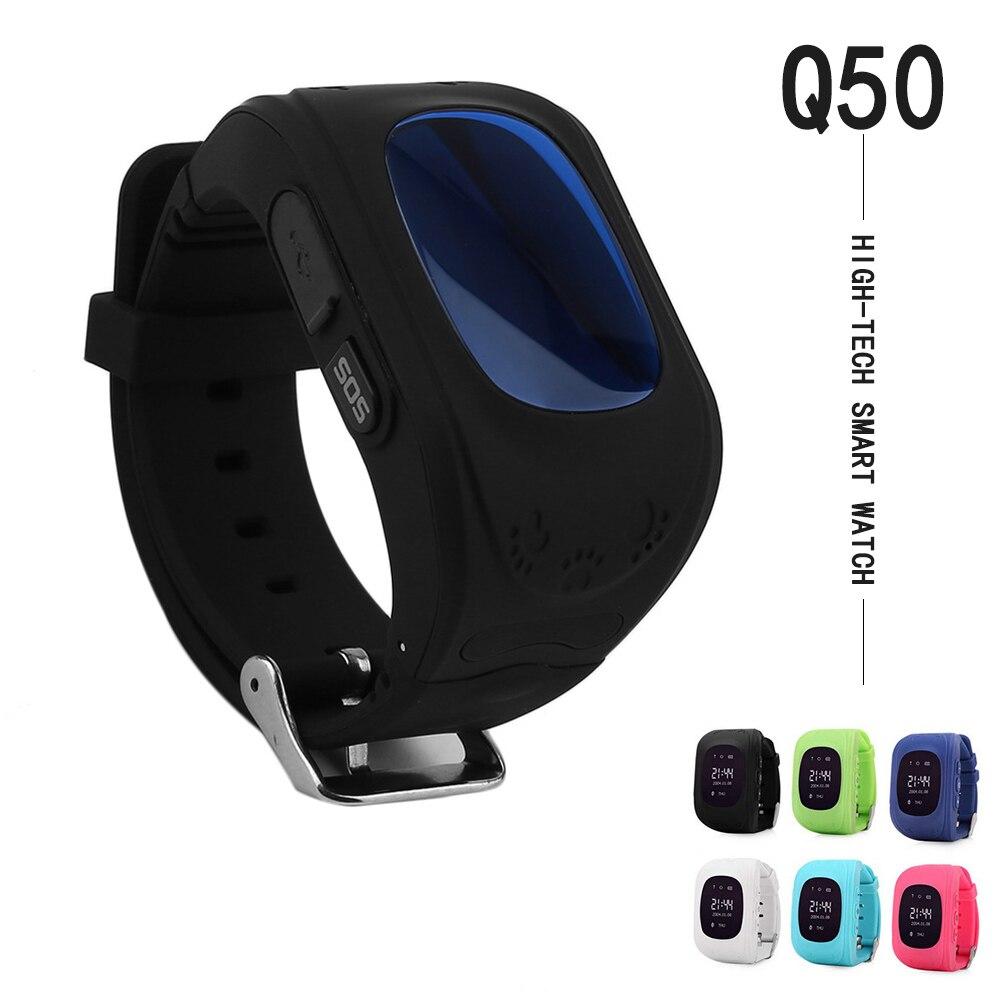 Q50 الطفل GPS المقتفي SOS رصد ذكي المواقع الهاتف المحمول الطفل GPS ساعة ذكية لتتبع الأطفال متوافق مع IOS و الروبوت