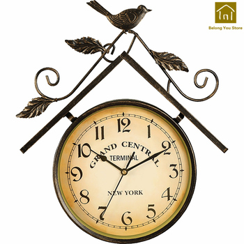 Creative Vintage Clocks Wall Decorations Living Room Wall Clock Digital Quartz Silent Duvar Saati Sticker Wall Clock SKP004