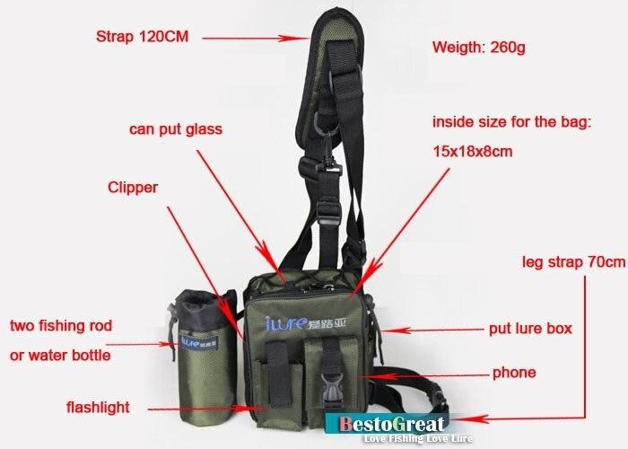 Многофункциональная Высококачественная рыболовная приманка, сумка через плечо, Различные карманы