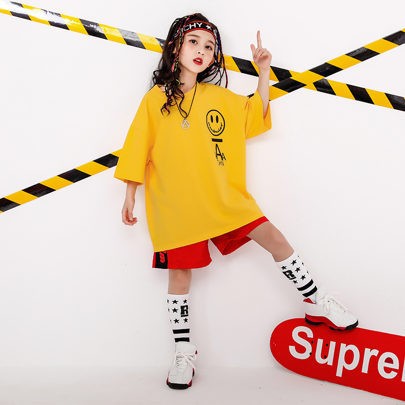 Boy Girl summer 2019 clothes Set 4 6 8 10 12 14 16T hip hop dance costumes kids Jazz set on the boy outfits kids clothes boys (2)