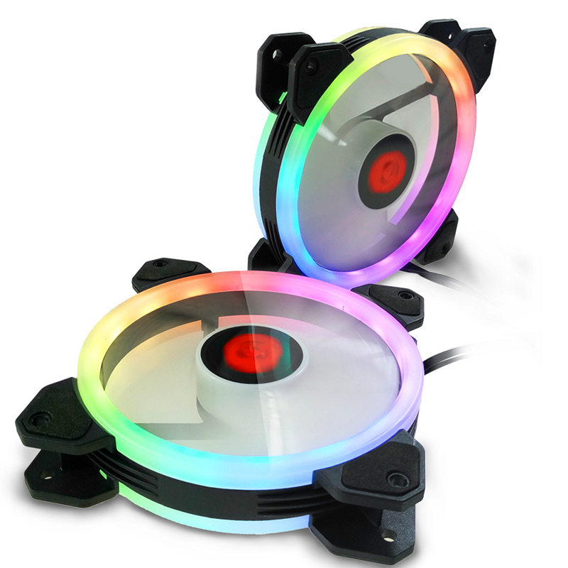 New RGB Aurora Cooling Fan 120MM 6pin Controller/LED Port RGB LED Ring For Computer Water Cooler Color Adjustable Radiator Fan 1u server computer copper radiator cooler cooling heatsink for intel lga 2011 active cooling
