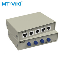 MT-VIKI 4 Port Netzwerk-switch in 1 out LAN KATZE Selector Internet Interne External Network Server Switcher MT-RJ45-4