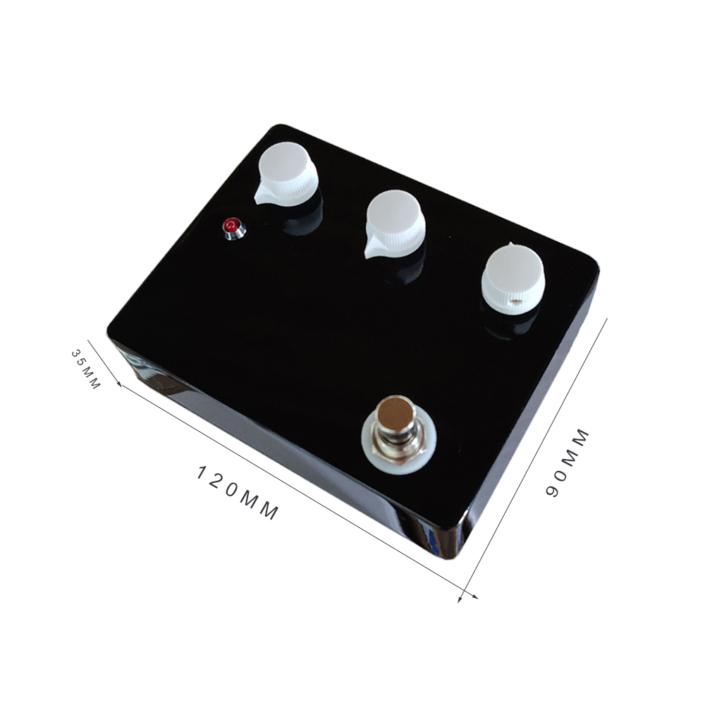 Купить с кэшбэком Blank Without Logo Black Klon Over Drive Guitar Pedal Effect Aluminum Alloy Box Switch Pedals