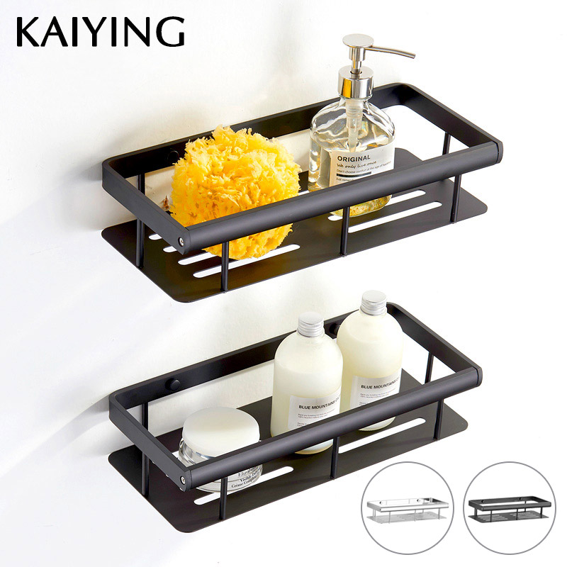 KAIYING Bathroom Shelf Aluminum Shower Caddy Rack Bathroom Accessories Wall Mounted Bathroom Corner Shelf Organizer Storage,BP55 dehub super suction cup wlla mounted bathroom corner shelf shower organizer corner bathroom shelf shower rack bathroom rack