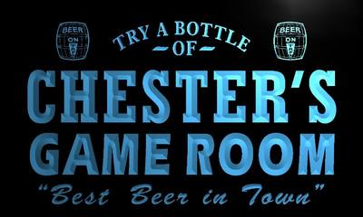 x0214-tm Chesters Beer Ale Game Room Custom Personalized Name Neon Sign Wholesale Dropshipping On/Off Switch 7 Colors DHL
