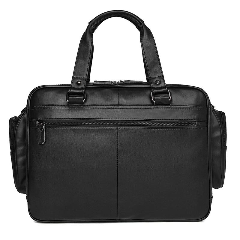 Nesitu duża duża pojemność czekoladowe czarne prawdziwa skóry mężczyźni torby podróżne Messenger torby 15.6 ''teczka na laptopa M7150 w Torby podróżne od Bagaże i torby na  Grupa 2
