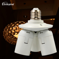 Elinkume Adjustable Lamp Base Lamp Holder E26 E27 1 To 3 E26 E27 Lamp Socket Splitter