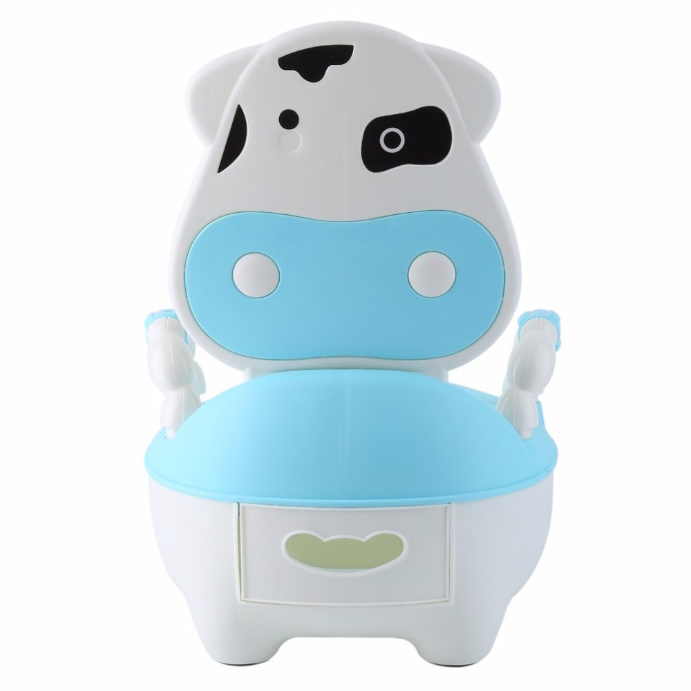 3 Color Portable Lovely Safety Cow Children Baby Potty Training Boys Girls Toilet Seat Potty Infants Toddler Child Pot Urinal