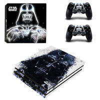 OSTSTICKER Black Hot Sellin For Sony PS4 Pro Vinyl Skin Sticker Cover For Playstation 4 Pro Decal