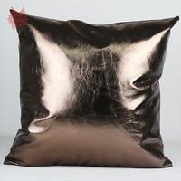Sofa decor 7colors solid PU leather cushion cover car covers pillow case cushion cover housse de coussin capa de almofada SP3460