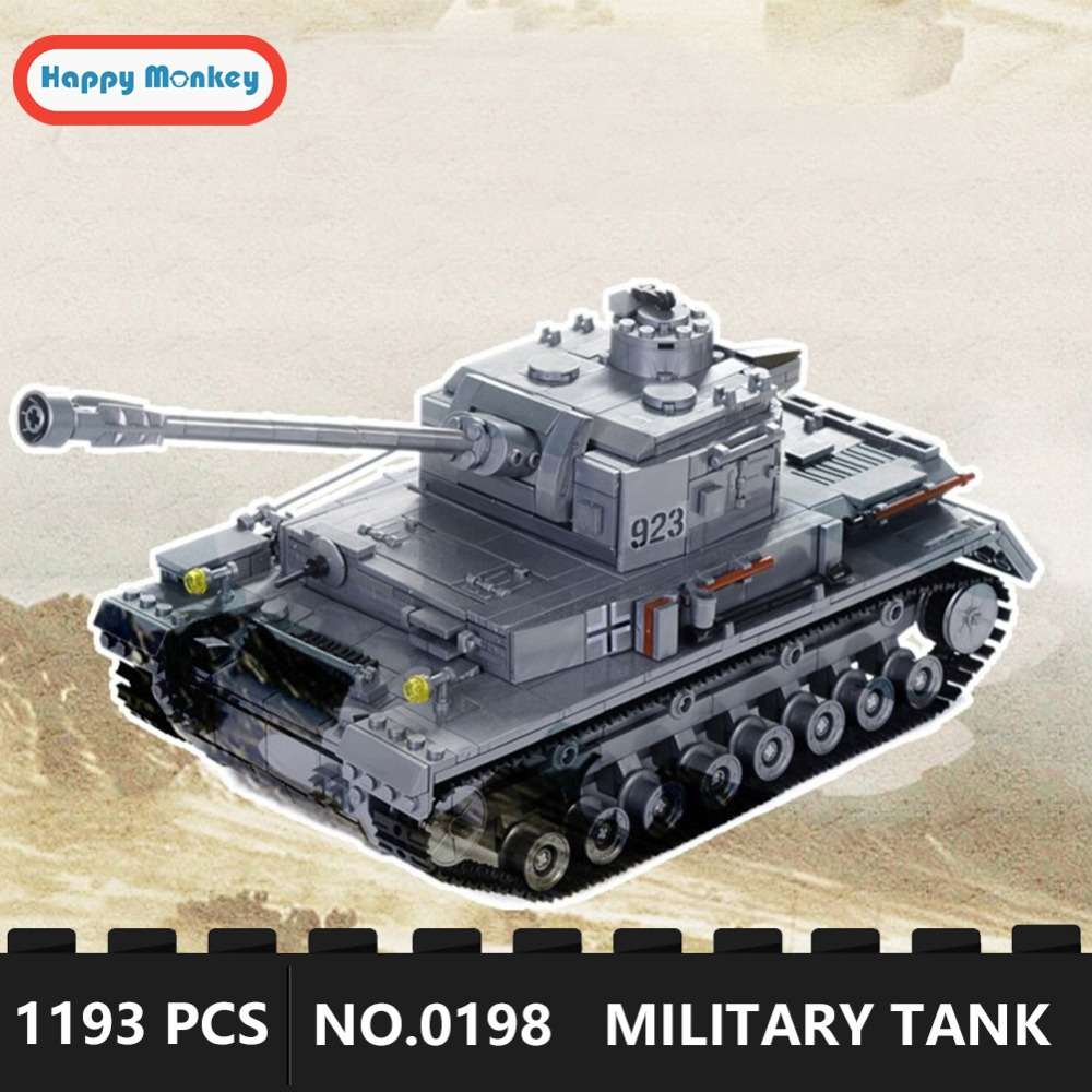 Model Building Toys & Hobbies Buy Cheap 1193pcs Large Panzer Iv Tank Building Blocks Sets Compatible Legoings Ww2 Military Bricks Army Diy Educational Toys For Children