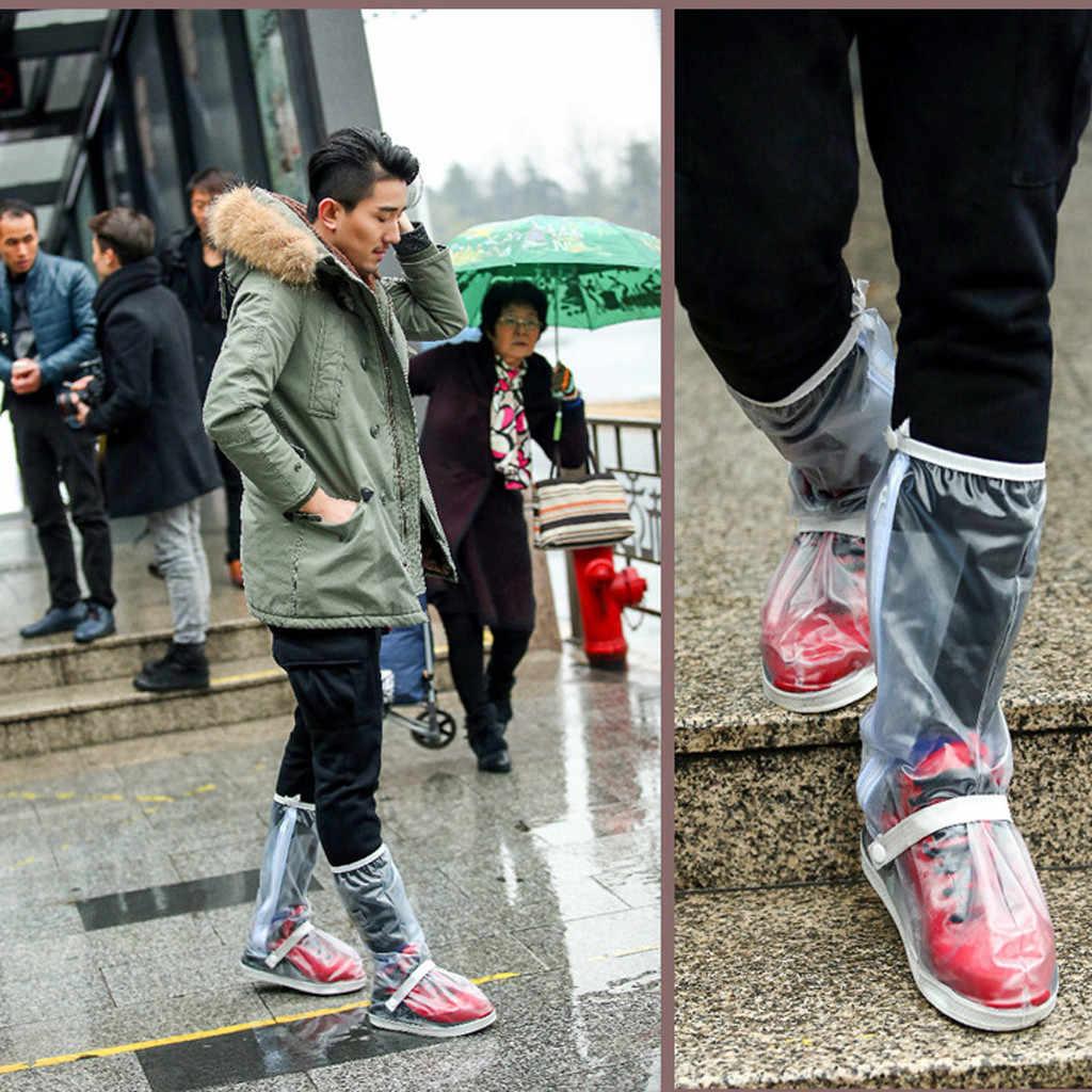 Водонепроницаемые чехлы для обуви поясные Чехлы для обуви многократного применения на открытом воздухе водонепроницаемые дождливые дневные Чехлы для обуви противоскользящие велосипедные камеры L0529