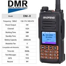 Dual Band Dmr Baofeng DM X Gps Digitale Radio Walkie Talkie 5W Vhf Uhf Dual Time Slot Dmr Ham Amateur radio Hf Transceiver
