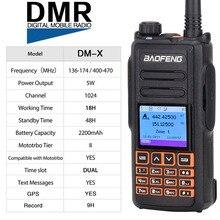 Dwuzakresowy DMR Baofeng DM X GPS Radio cyfrowe Walkie Talkie 5W VHF UHF podwójny czas gniazdo DMR Ham Radio dla amatorów Hf Transceiver