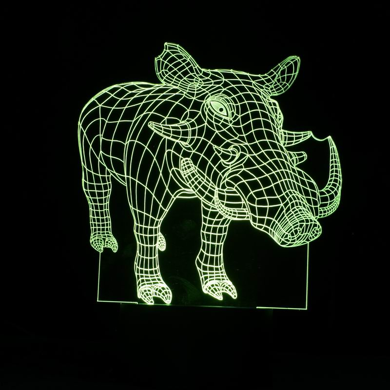 Novelty 3D Creative Boar Shape Night Lights  LED Hand Touch Control Table Light Lamp as Home Decoration or Gifts creative home decoration victory gesture shape led night light